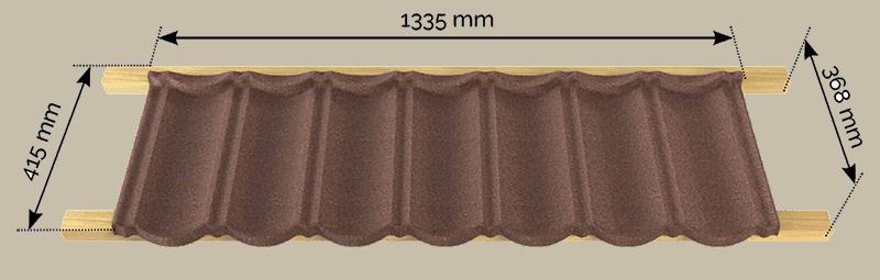 tigla metalica acoperita cu piatra